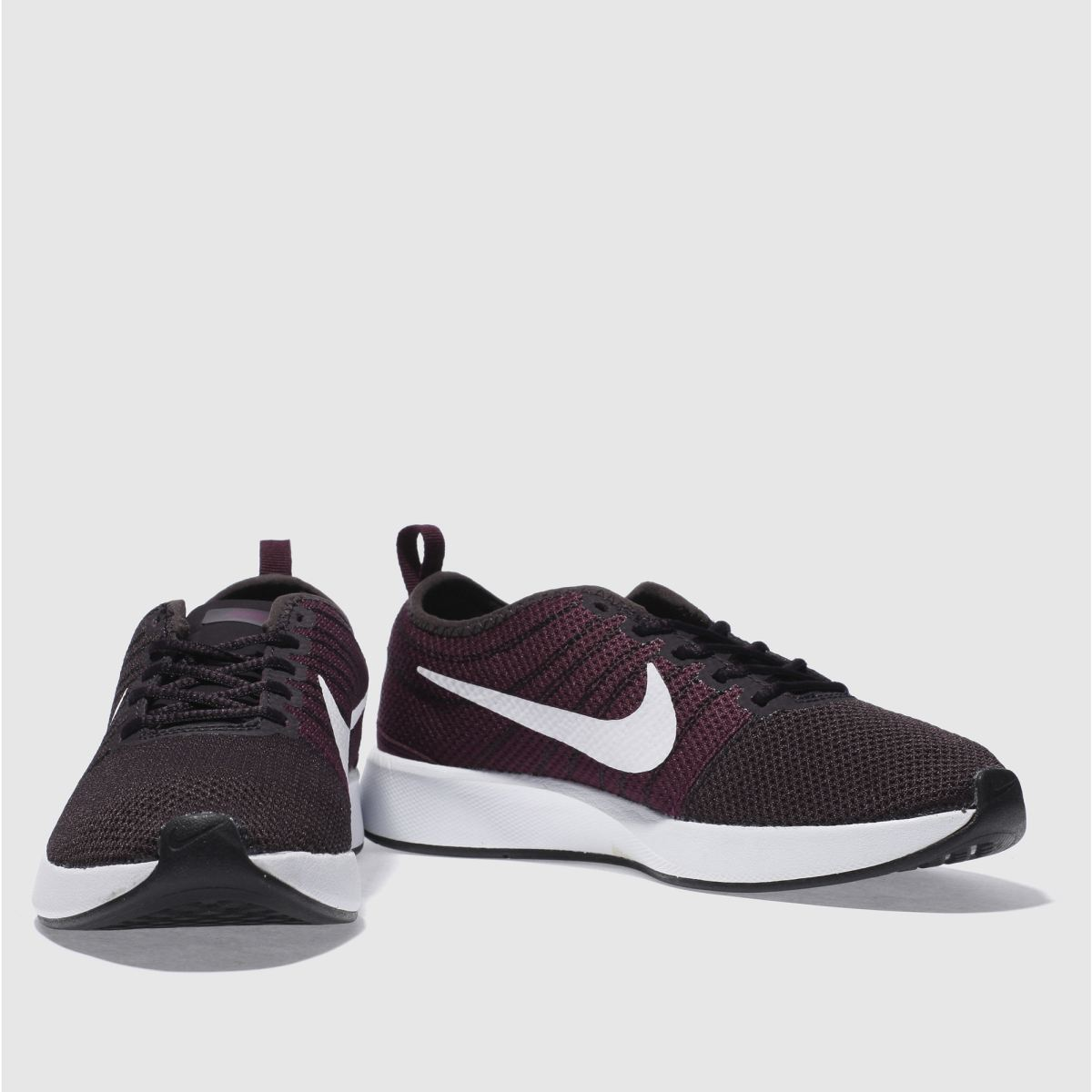 Nike dual tone dark purple trainers