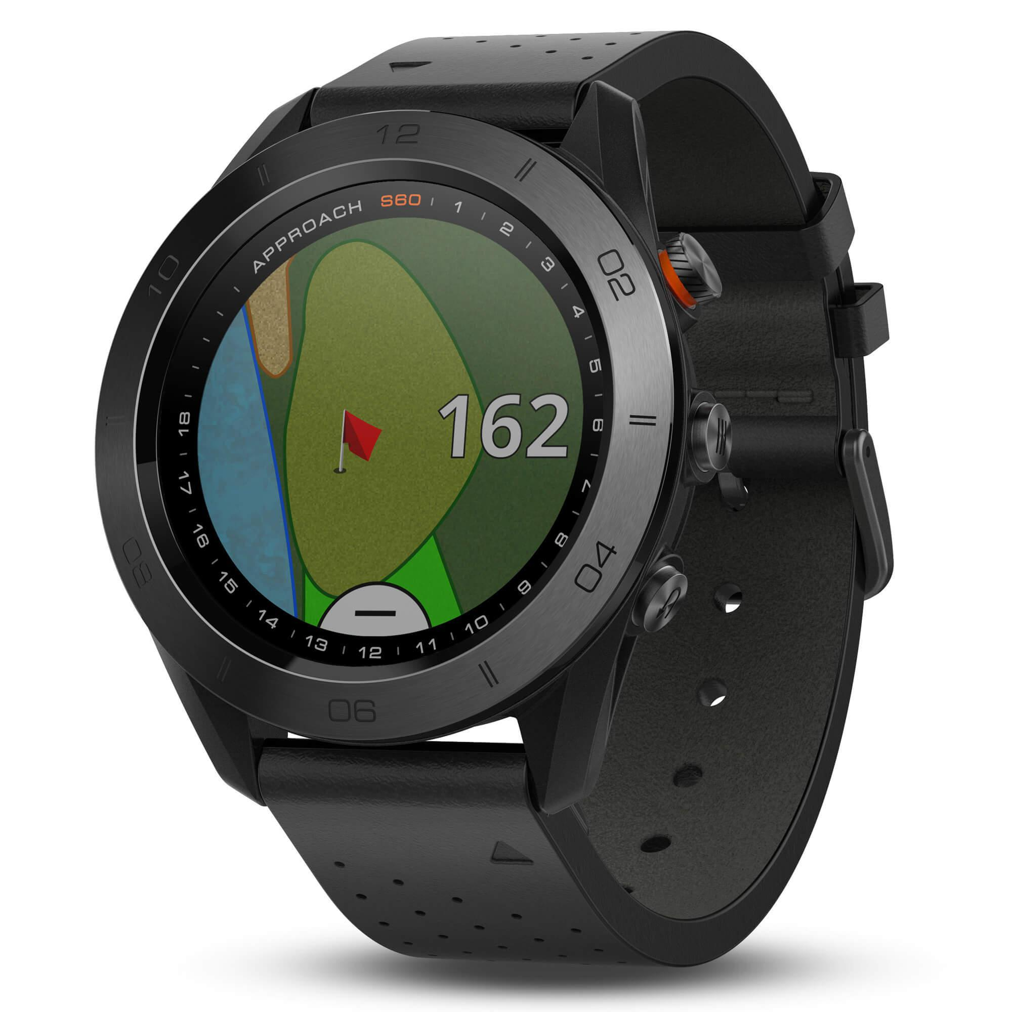 Garmin Approach S60 Premium Golf Watch in Black