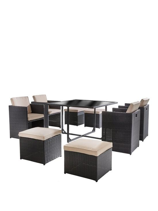 Vancouver 9-Piece Cube Garden Furniture Set