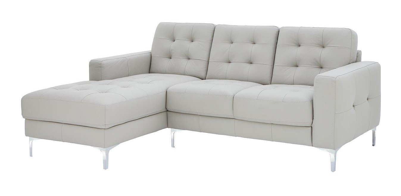 Ideal Home Brook Premium Leather 3 Seat Sofa