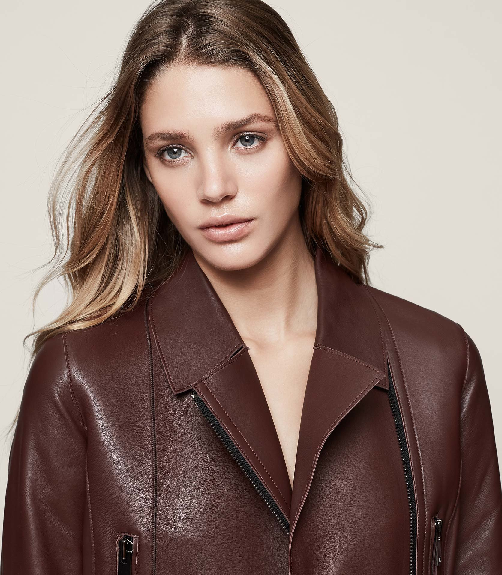 Remi Leather Biker Jacket